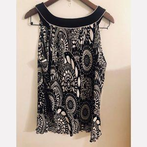 Studio 1950 black and white blouse size 22/24